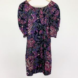 Ecote Low Back Balloon Sleeve Floral Dress